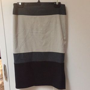 Multicolored midi skirt
